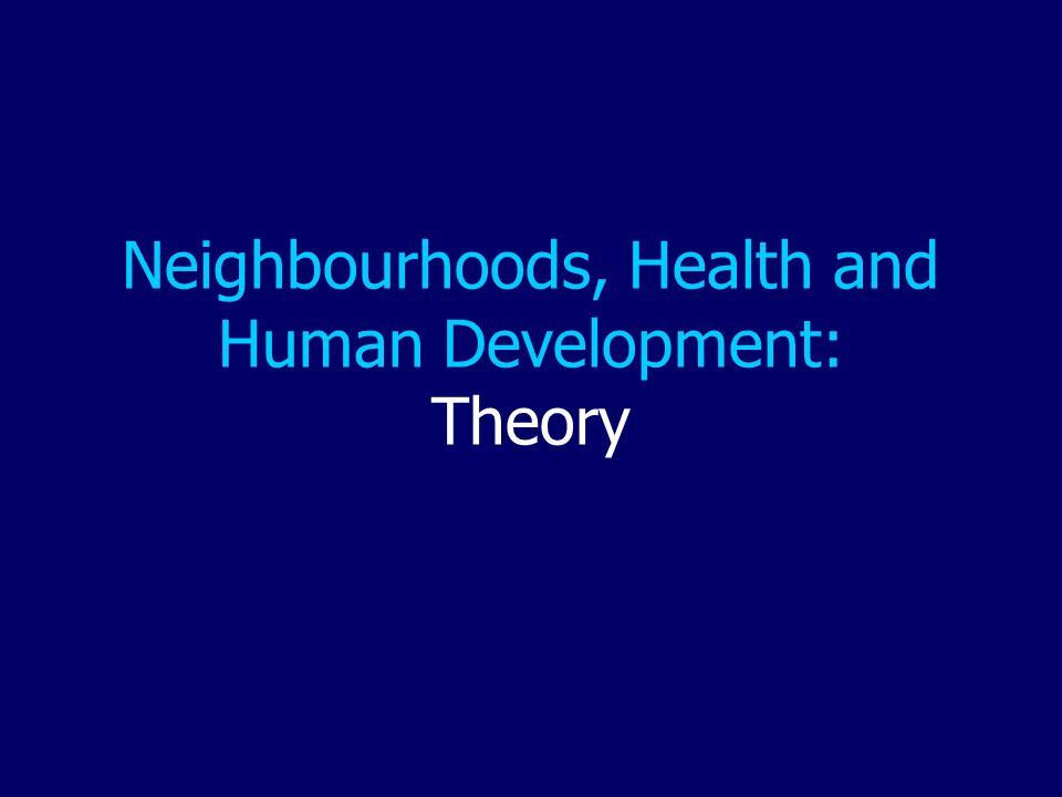 Neighbourhoods, Health and Human Development: Theory