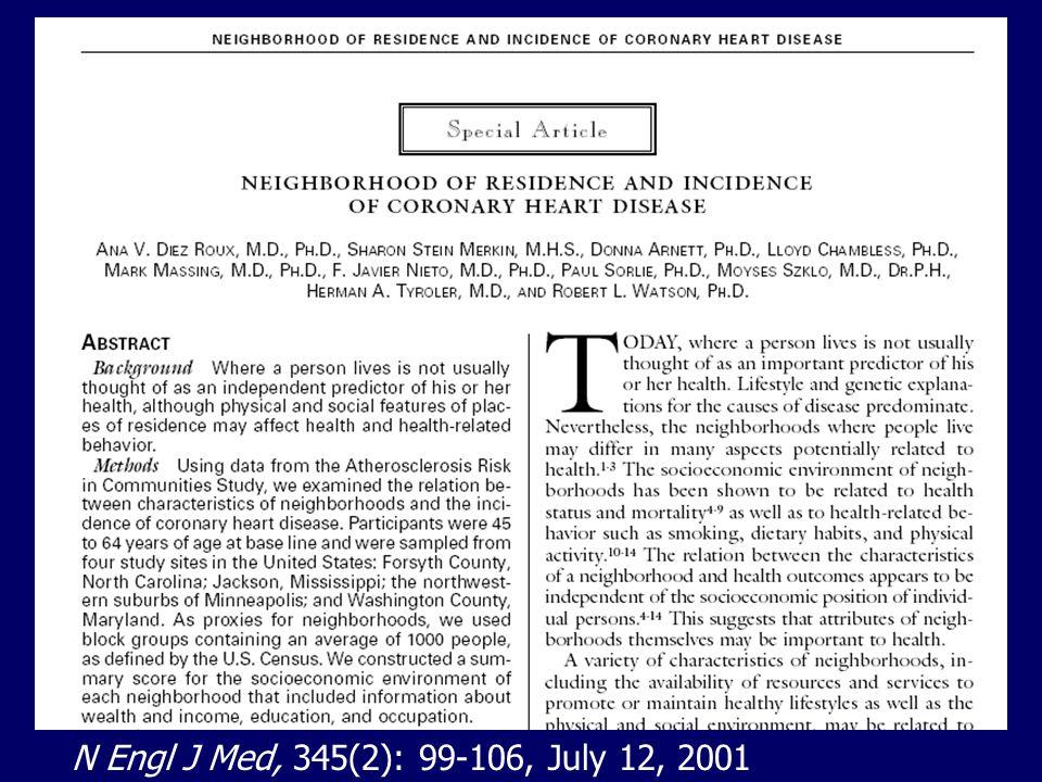 N Engl J Med, 345(2): 99-106, July 12, 2001