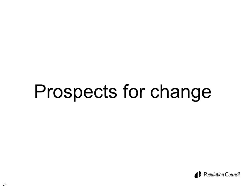 24 Prospects for change