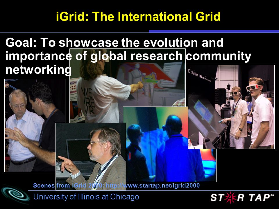 University of Illinois at Chicago iGrid: The International Grid Goal: To showcase the evolution and importance of global research community networking
