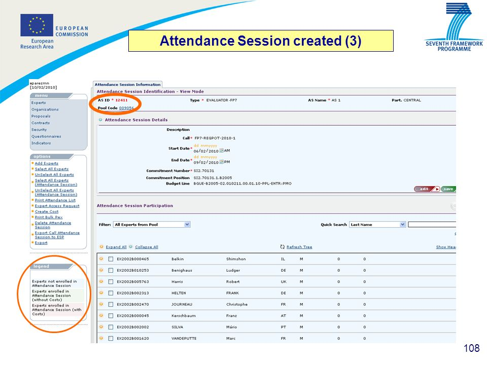 108 Attendance Session created (3)