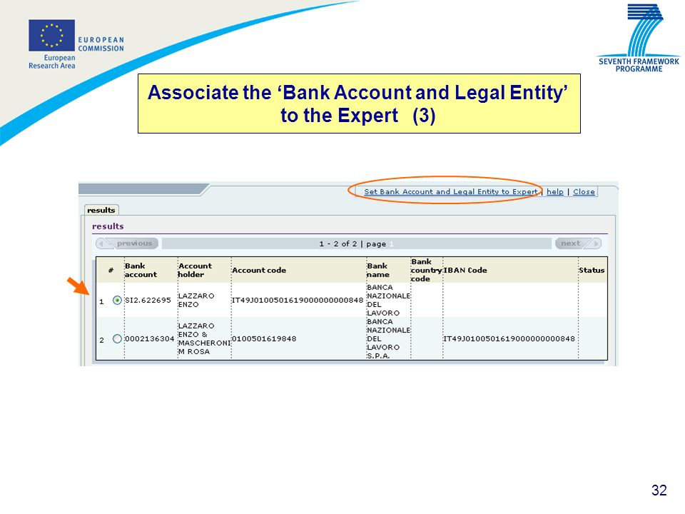 32 Associate the Bank Account and Legal Entity to the Expert (3)