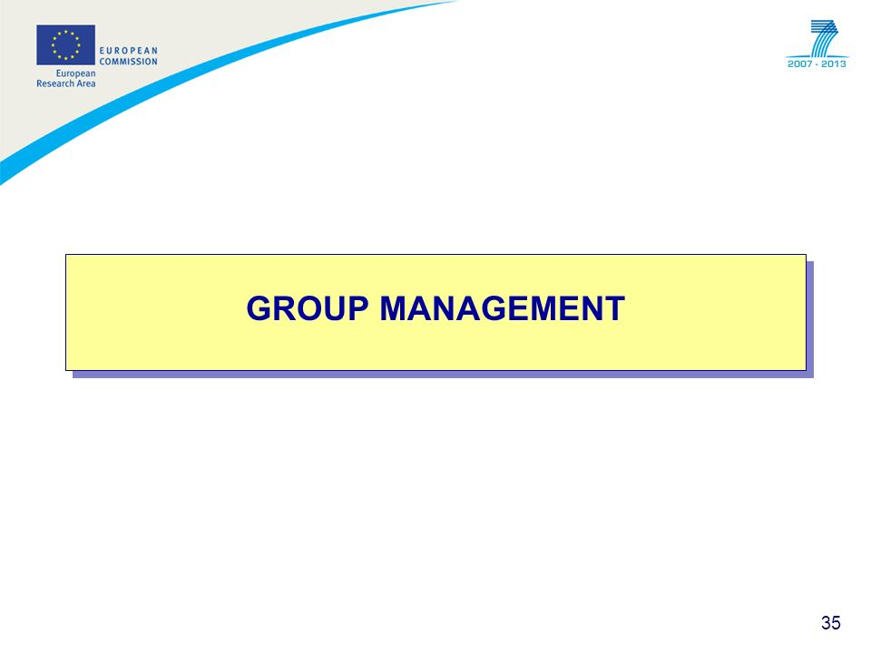 35 GROUP MANAGEMENT