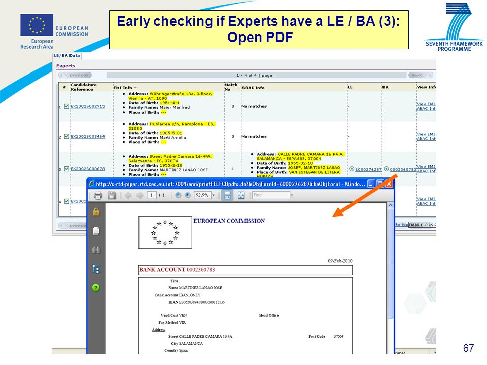 67 Early checking if Experts have a LE / BA (3): Open PDF