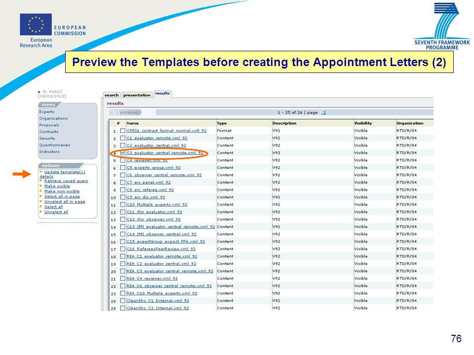 76 Preview the Templates before creating the Appointment Letters (2)