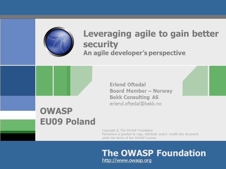 OWASP AppSecEU09 Poland Who am I.