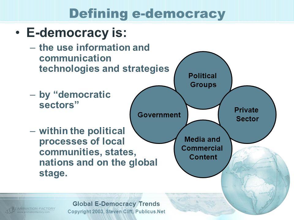 Defining e-democracy