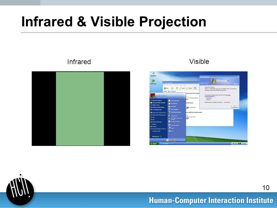 Infrared & Visible Projection Infrared Visible 10