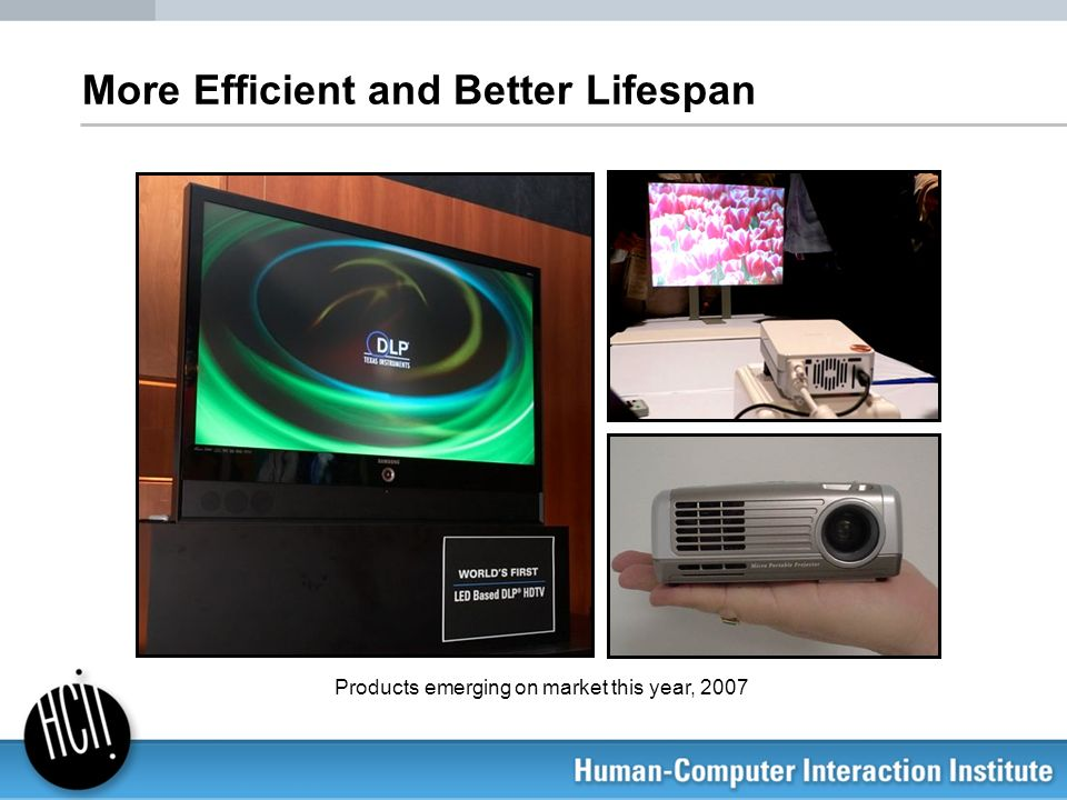 More Efficient and Better Lifespan Products emerging on market this year, 2007