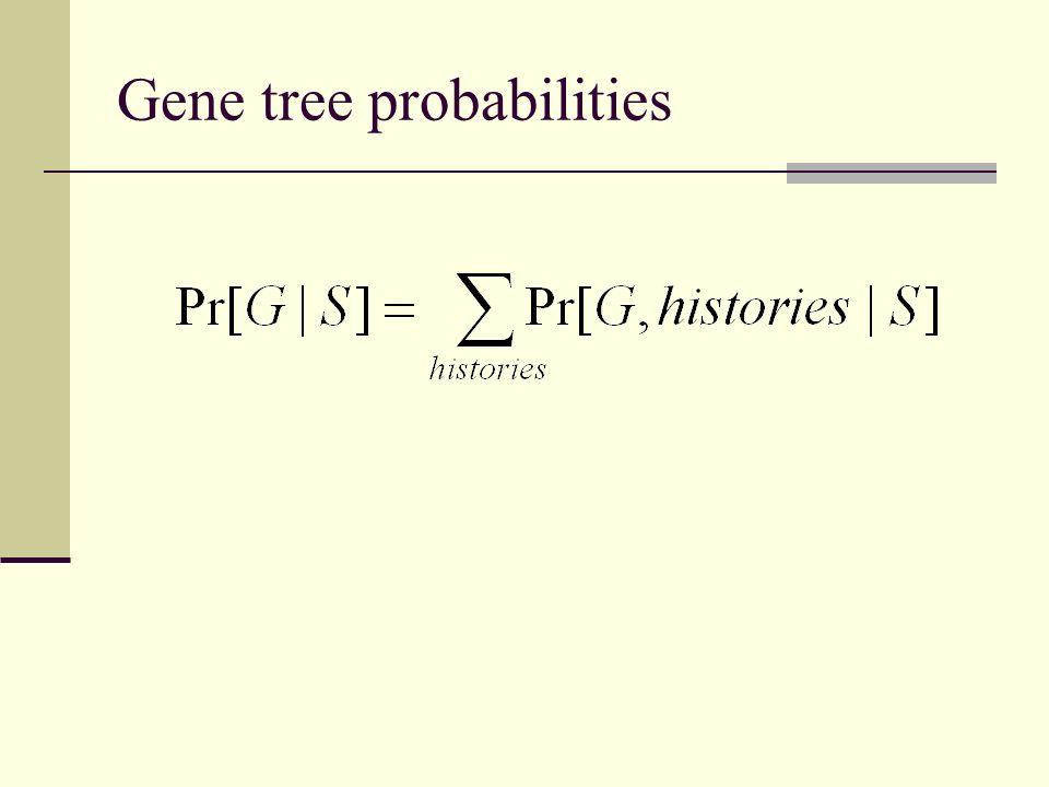 Gene tree probabilities