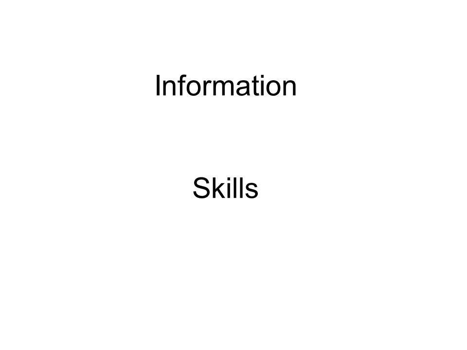 Information Skills