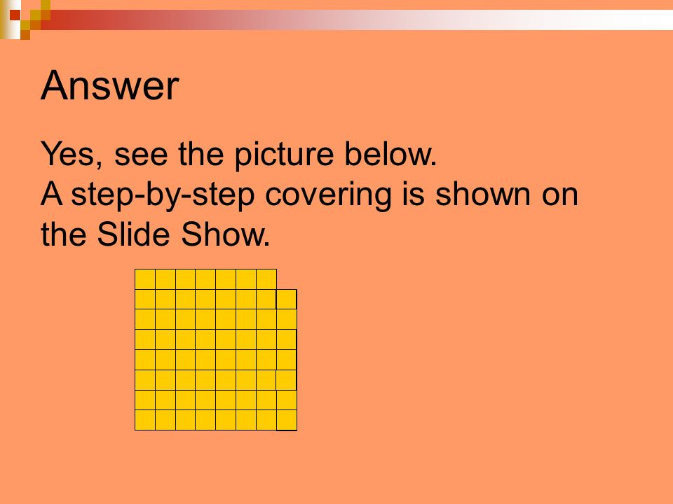 Answer Yes, see the picture below. A step-by-step covering is shown on the Slide Show.