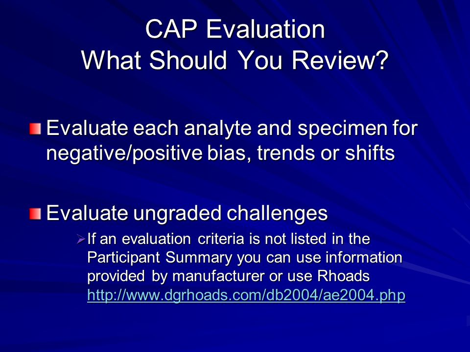 Education Challenges Code 26 POC.03275 Phase IIN/A YES NO Is there evidence of evaluation and, if indicated, corrective action in response to unacceptable results on the proficiency testing reports and results of the alternative performance assessment system.