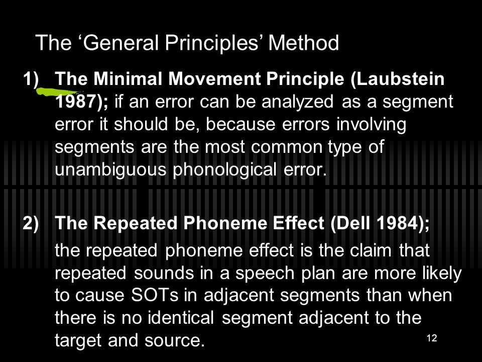 11 Result of the Majority Rules Method Errors No. of instances (%) Segmental Analysis95 (86.36%) Mora analysis71 (64.45%) Syllable analysis 70 (63.63%