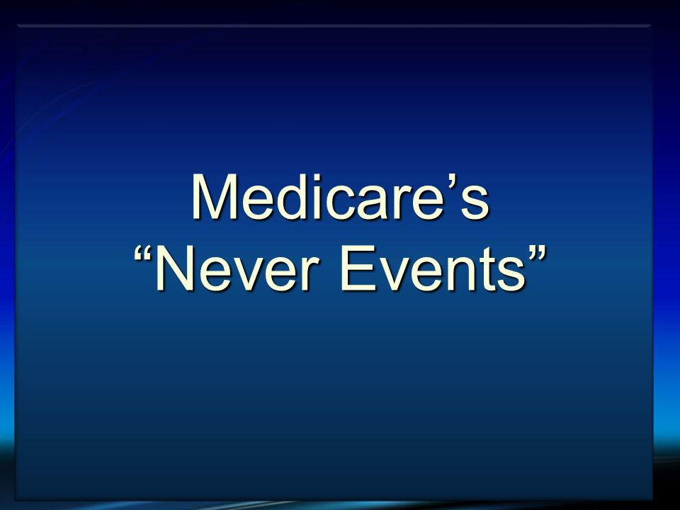 VTE and Cancer Medicares Never Events