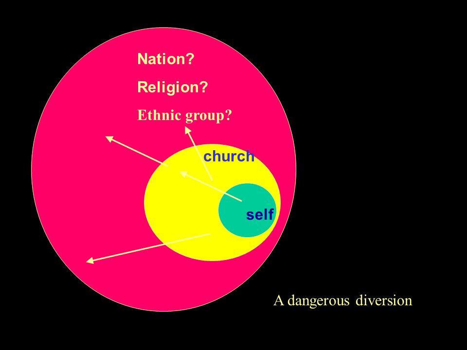self church Nation? Religion? Ethnic group? A dangerous diversion