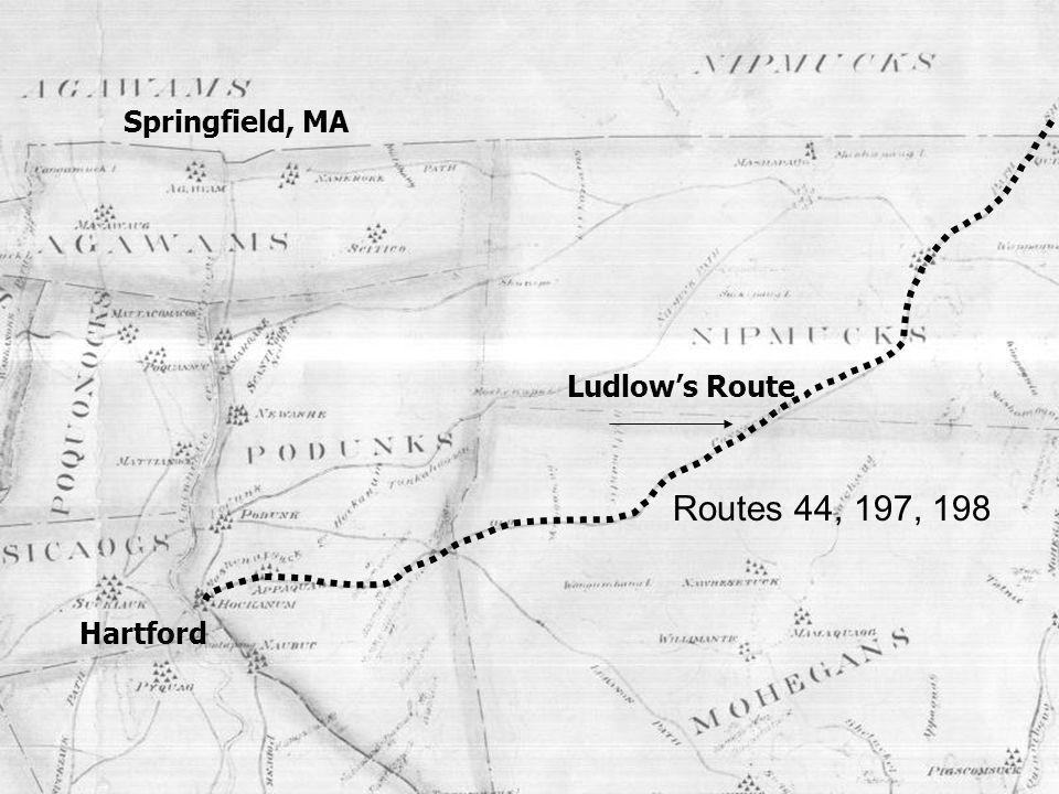 Ludlows Route Hartford Springfield, MA Routes 44, 197, 198