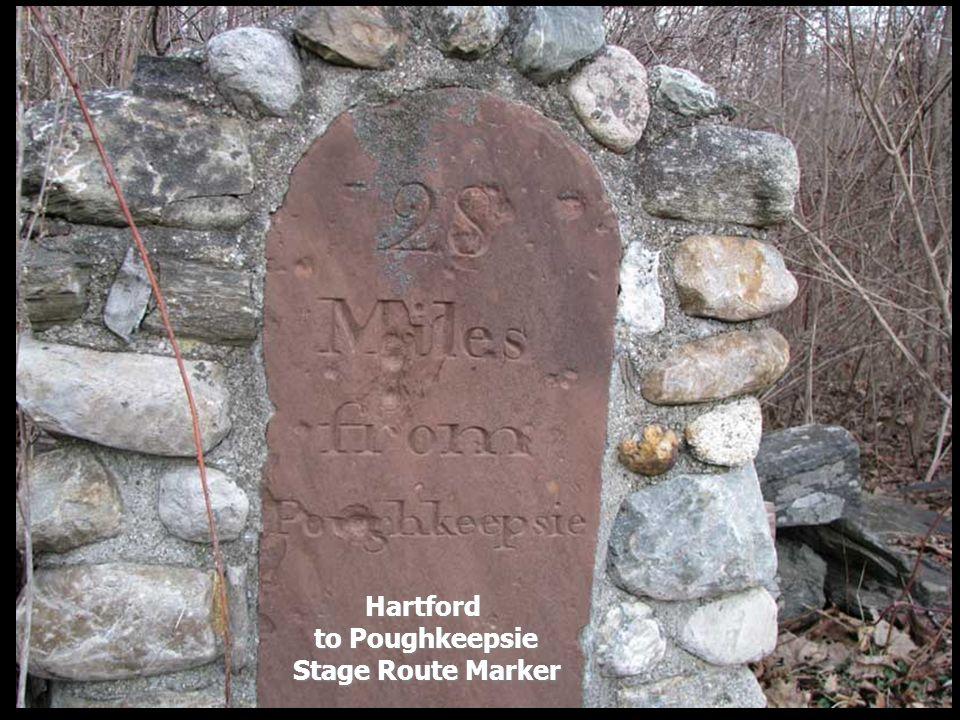 Hartford to Poughkeepsie Stage Route Marker