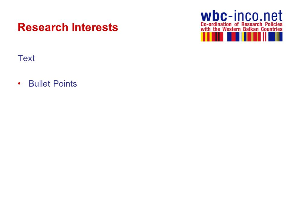 Research Interests Text Bullet Points