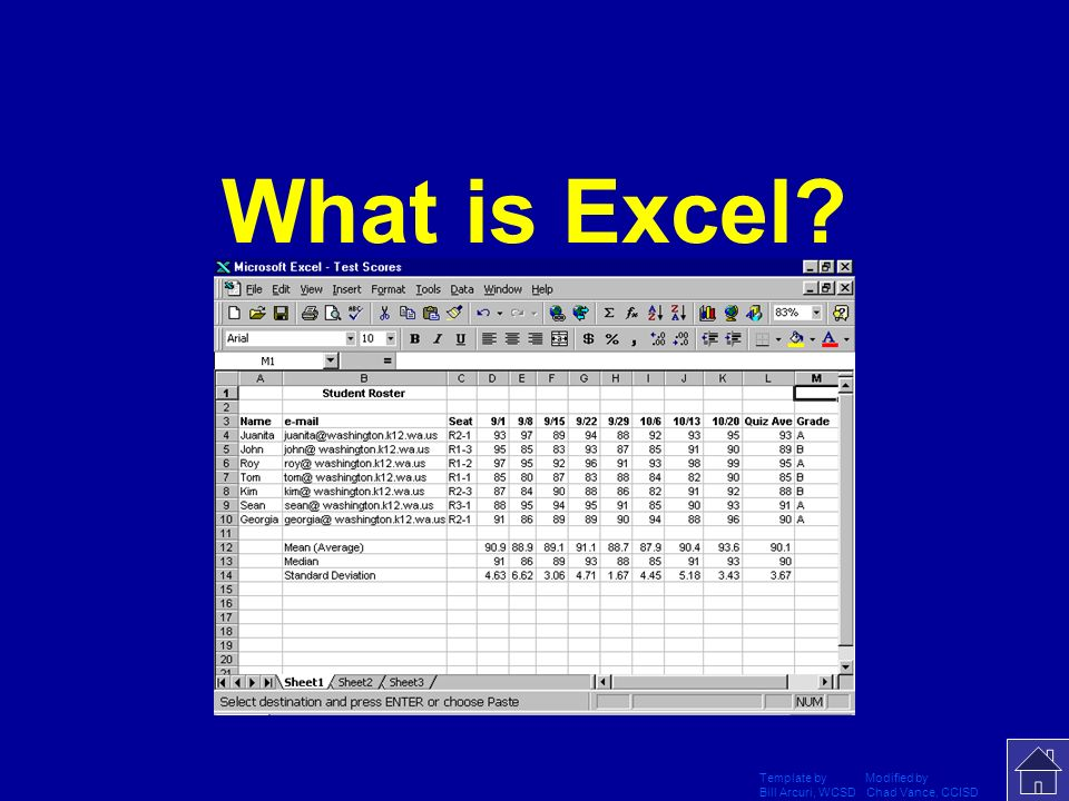 Template by Modified by Bill Arcuri, WCSD Chad Vance, CCISD This program can be used to create spreadsheets and graphs.