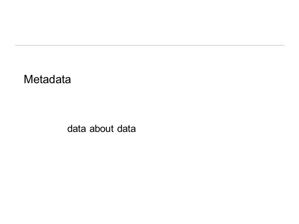 Metadata data about data