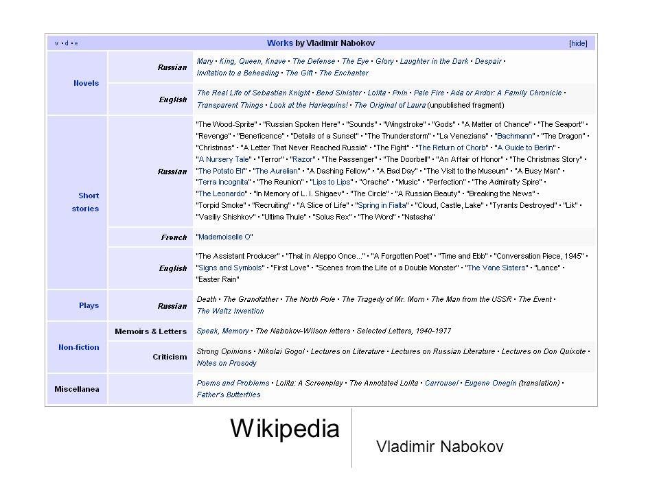 Wikipedia Vladimir Nabokov