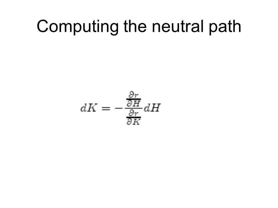 Computing the neutral path
