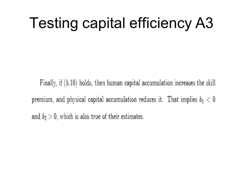 Testing capital efficiency A3