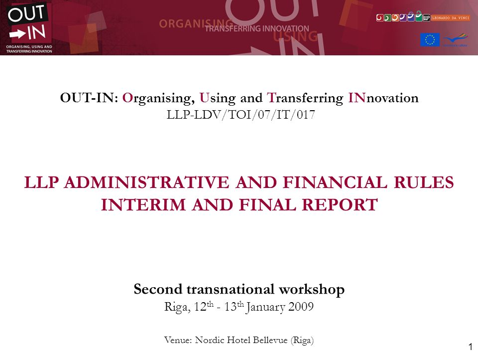52 Referring to Subcontracting costs, the figures included in our project budget are the following: SubcontractTask description 1Translations LV/EN 1.200 pages 2Translations IT/EN 400 pages 3Translations GR/EN 1.200 pages 4Catering for Start-up workshop (UK) 5Catering for Interim workshop (LV) 6Brochure printing (1.000 copies) 7CD Rom printing 2.000 copies 8External evaluation 9Final Conference - Interpretation 2 languages/1 day 10Catering and Room rental for Final Conference Subcontracting costs: figures