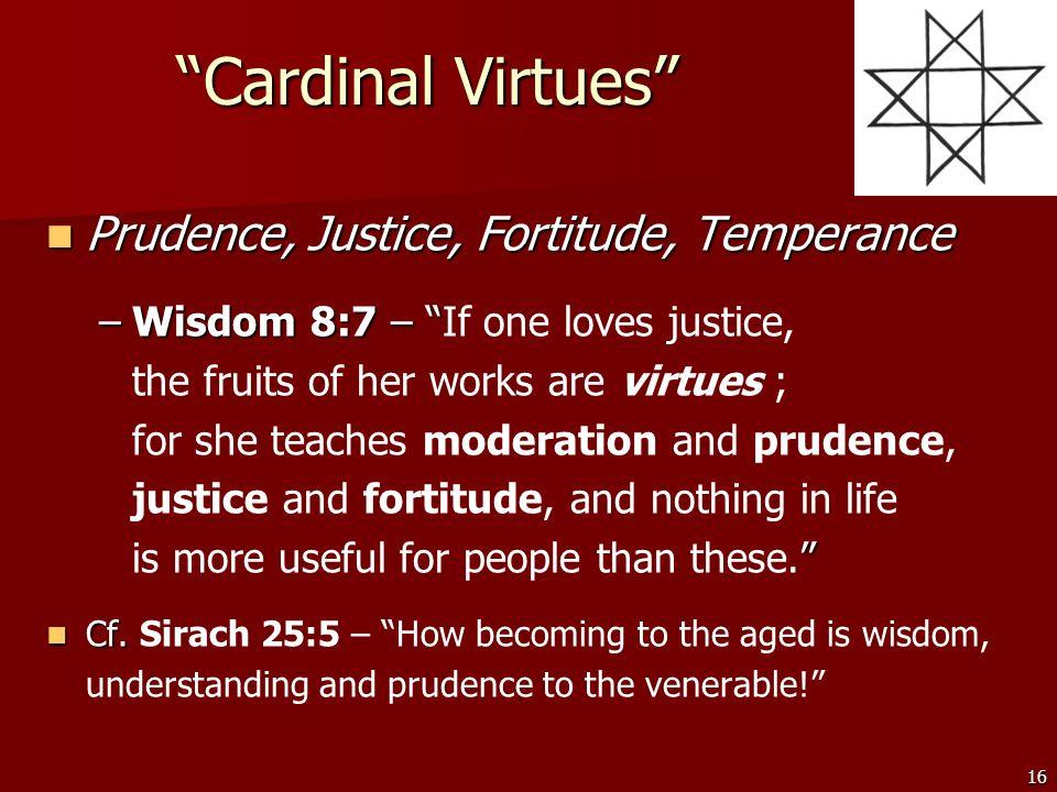 define the 4 cardinal virtues