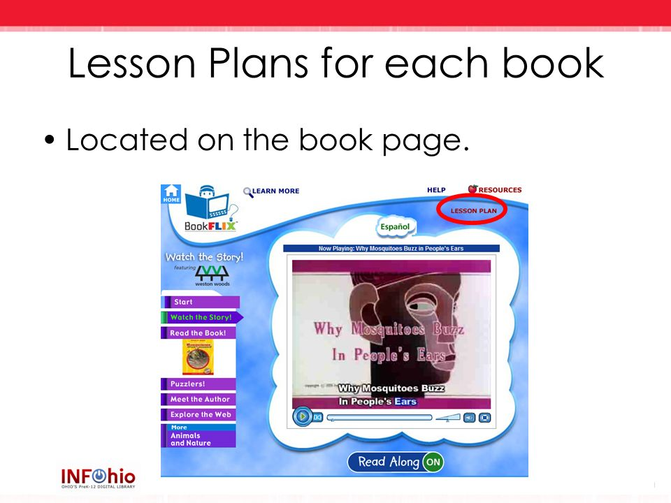 Lesson Plans for each book Located on the book page.