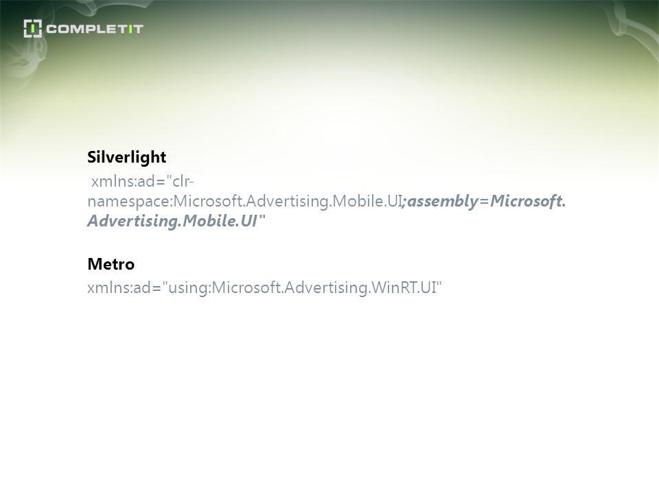 Silverlight xmlns:ad=