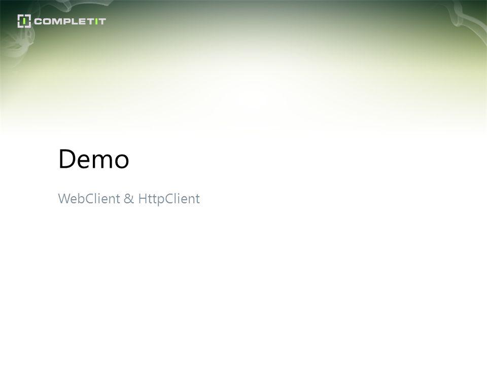 WebClient & HttpClient Demo