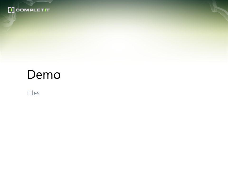 Files Demo