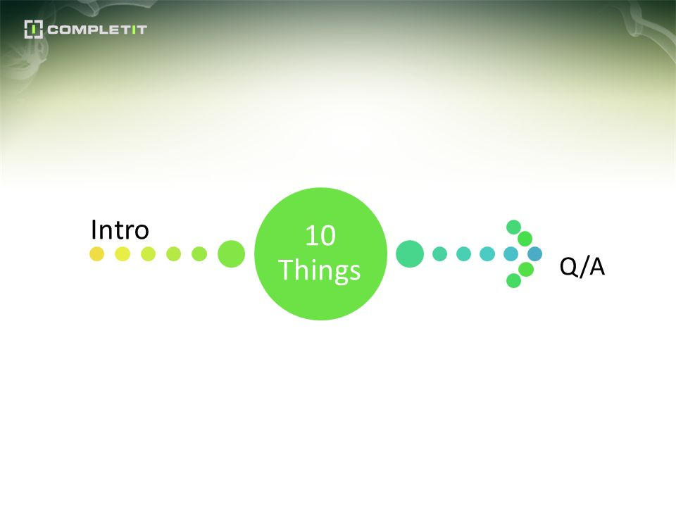 10 Things Intro Q/A