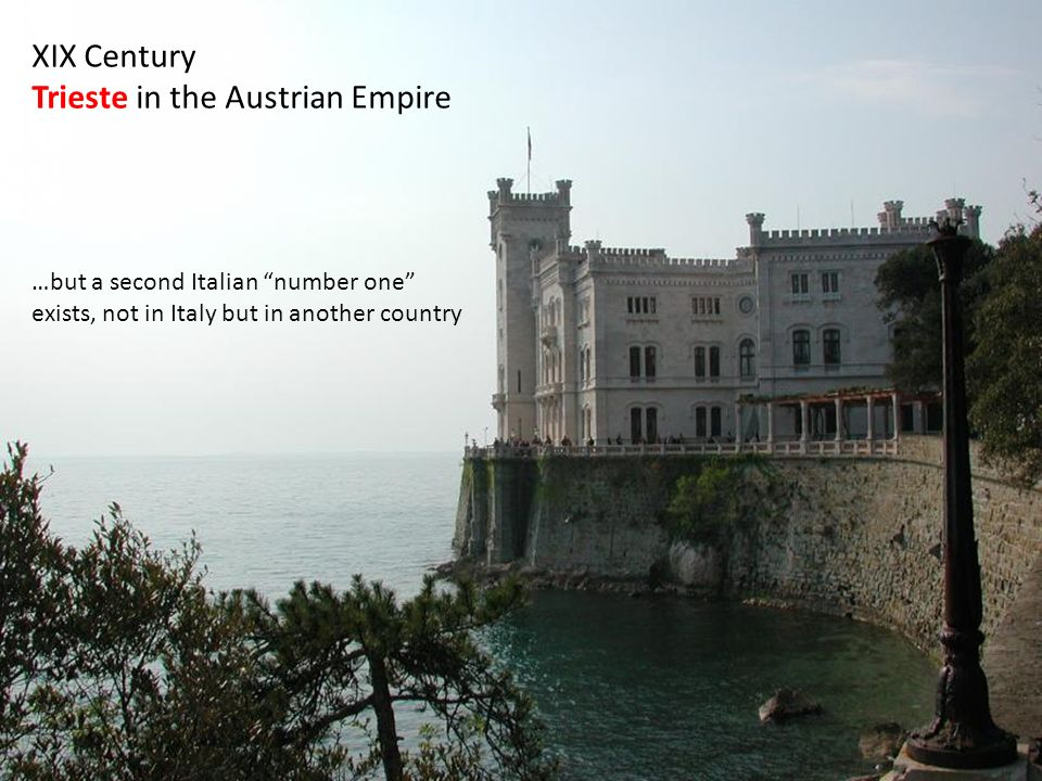 XIX Century Trieste in the Austrian Empire …but a second Italian number one exists, not in Italy but in another country