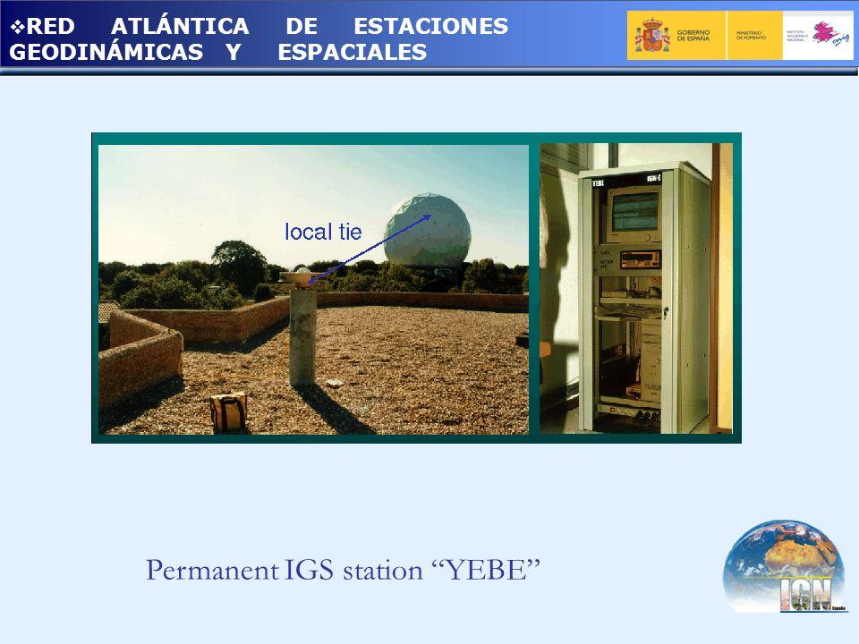 RED ATLÁNTICA DE ESTACIONES GEODINÁMICAS Y ESPACIALES Permanent IGS station YEBE