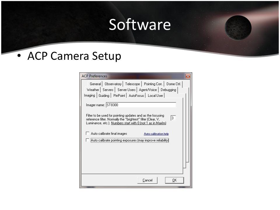 Software ACP Camera Setup