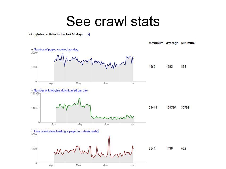 See crawl stats