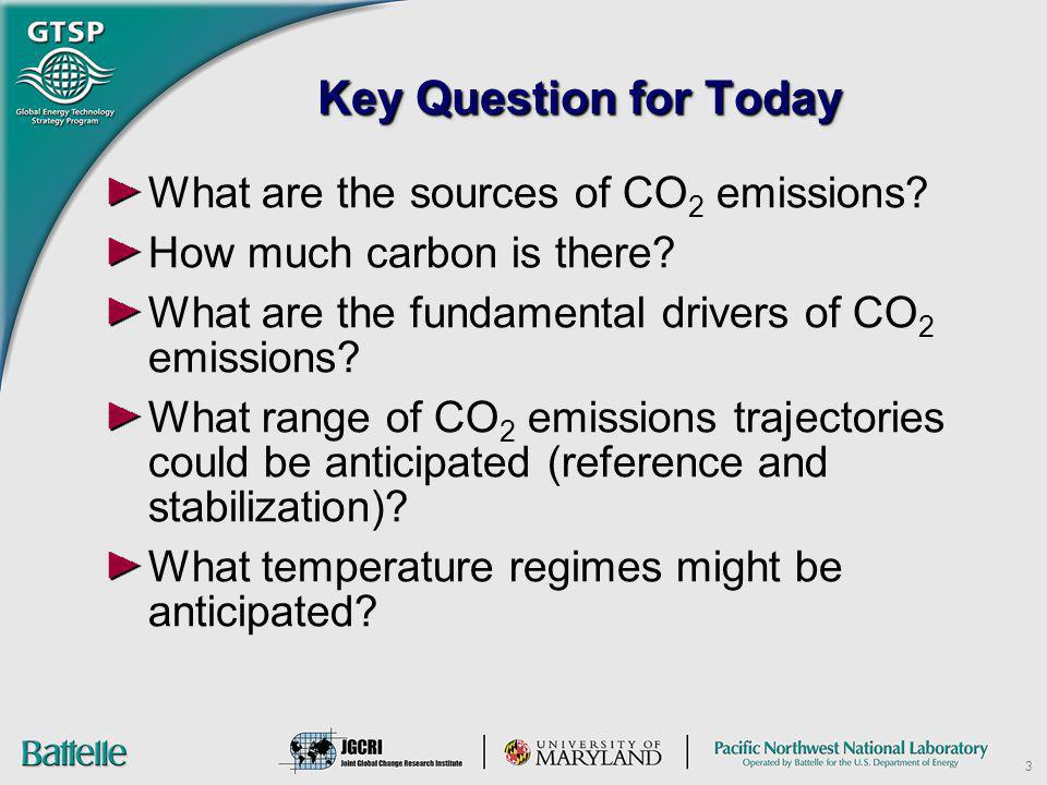 3 Key Question for Today What are the sources of CO 2 emissions? How much carbon is there? What are the fundamental drivers of CO 2 emissions? What ra