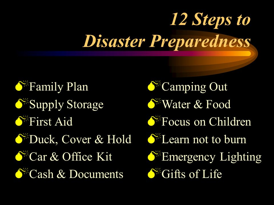 Disaster Preparedness for Your Home & Your Workplace s Presented by Central County Fire Department s Serving the City of Burlingame and the Town of Hi