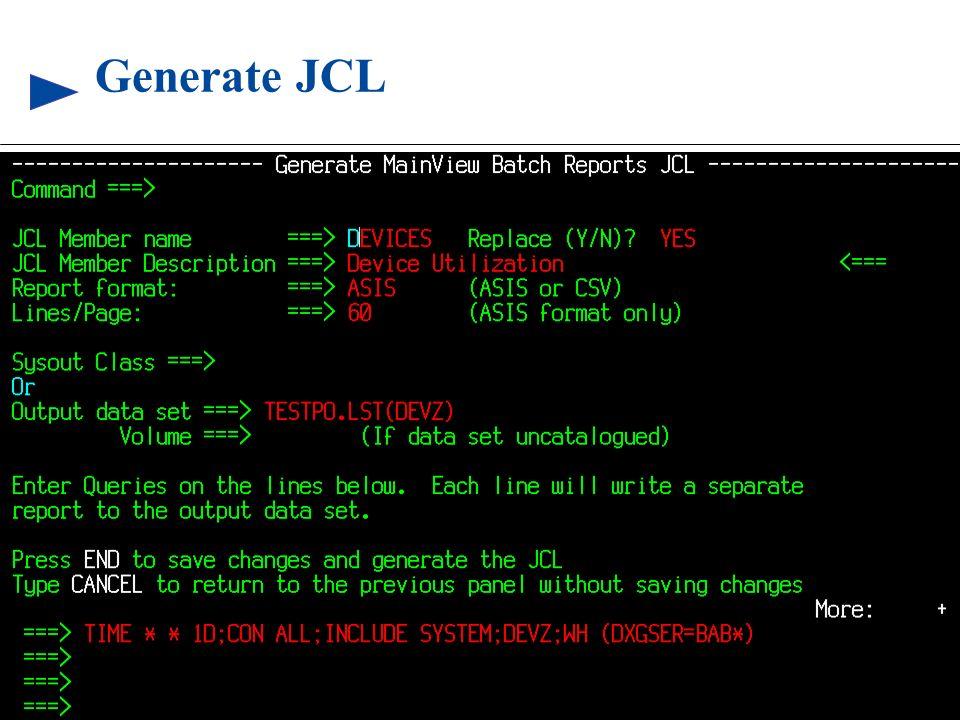 86 © 1999 BMC SOFTWARE, INC. 3/17/99 Generate JCL