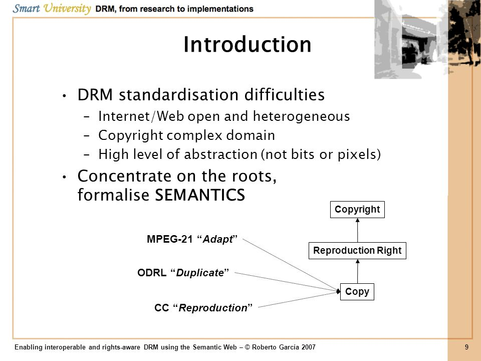 Enabling interoperable and rights-aware DRM using the Semantic Web – © Roberto García 200730 Conceptualisation Victor Hugos Les Misérables Creation Model