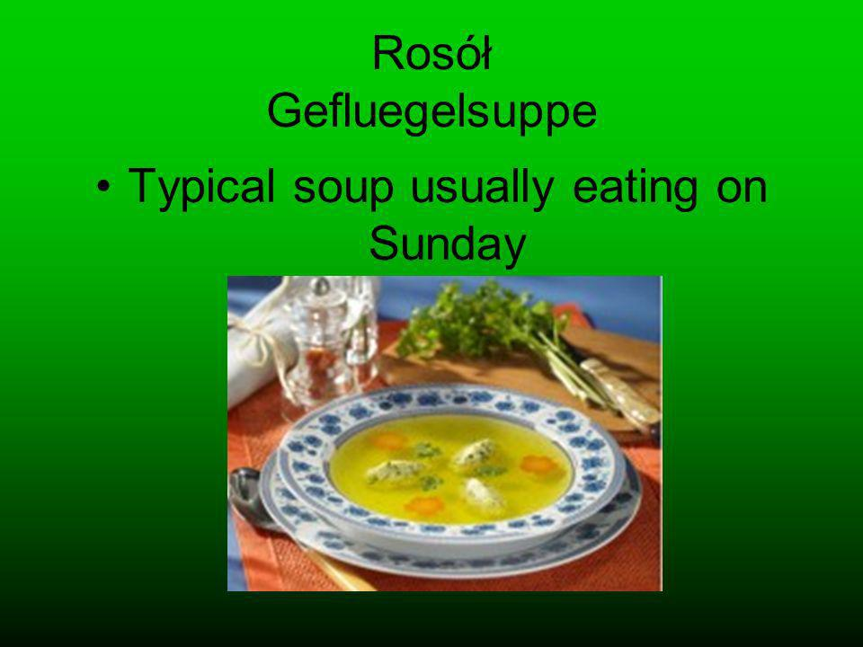 Rosół Gefluegelsuppe Typical soup usually eating on Sunday