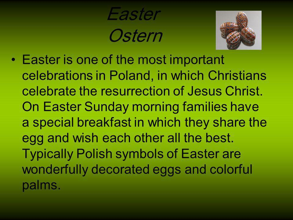 Polish Easter basket – Saturday before Easter children take this type of basket to church to bless the Easter food