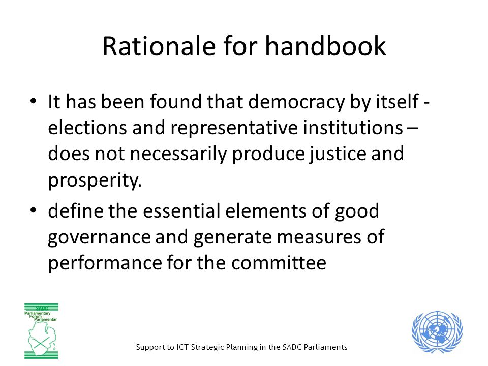 Support to ICT Strategic Planning in the SADC Parliaments PART II: Parliamentary ICT Committee