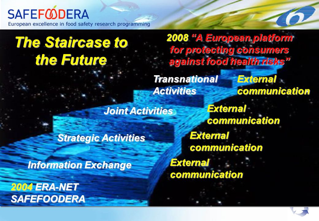 2008 A European platform for protecting consumers against food health risks The Staircase to the Future Information Exchange External communication St