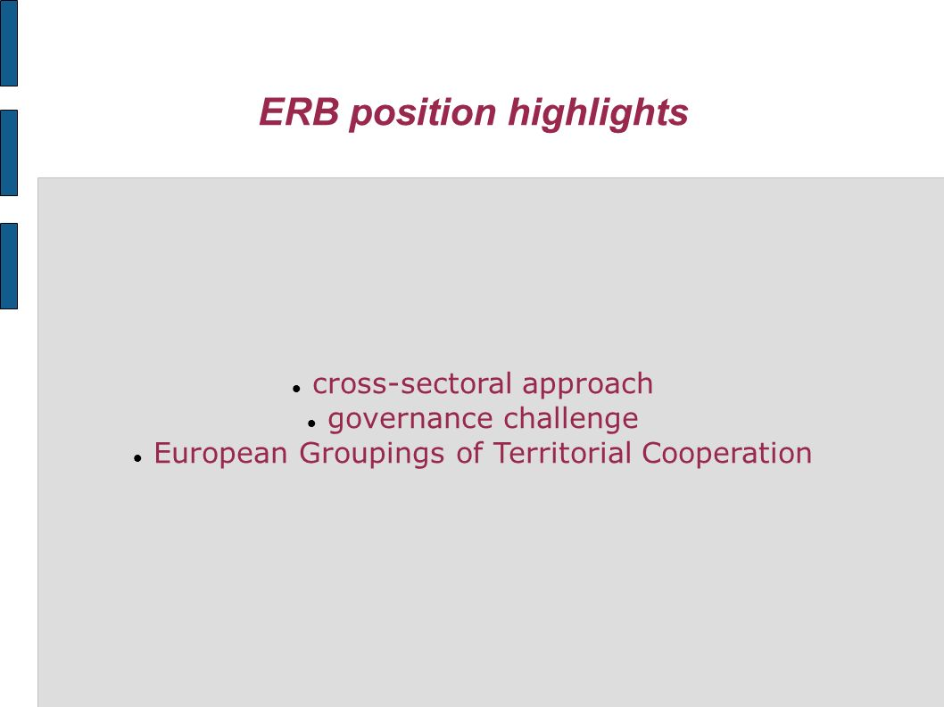 ERB position highlights cross-sectoral approach governance challenge European Groupings of Territorial Cooperation