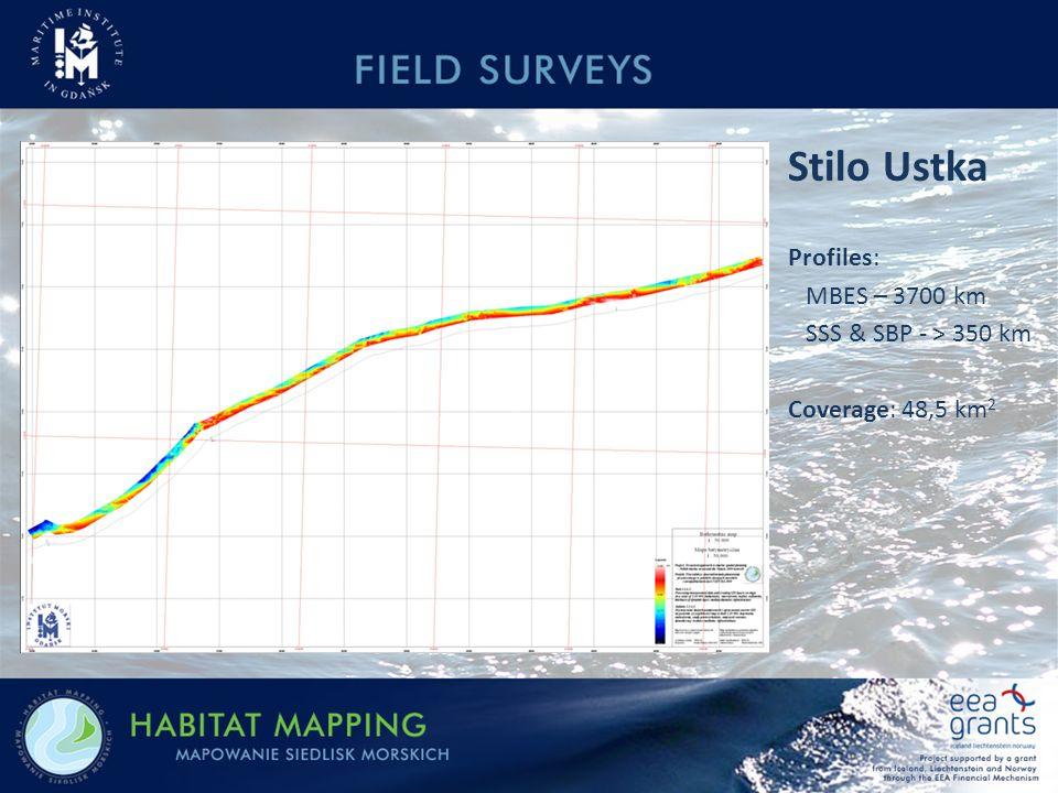 Stilo Ustka Profiles: MBES – 3700 km SSS & SBP - > 350 km Coverage: 48,5 km 2