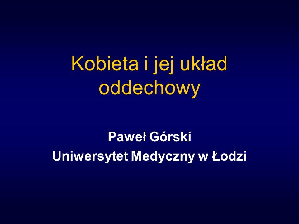 Kobieta i jej układ oddechowy Paweł Górski Uniwersytet Medyczny w Łodzi